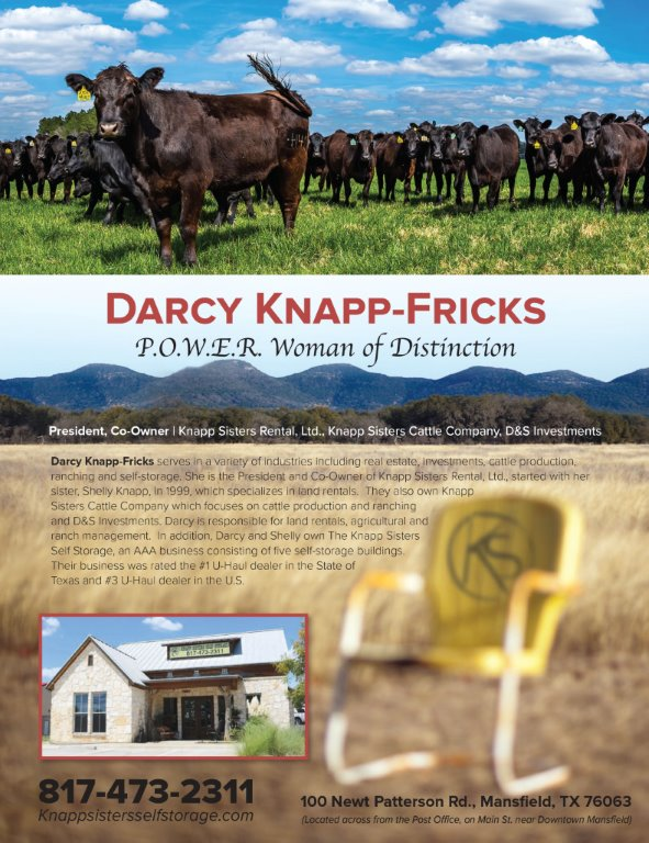 Darcy L. Knapp-Fricks Showcased on the Back Cover of the Summer Issue of P.O.W.E.R. Magazine