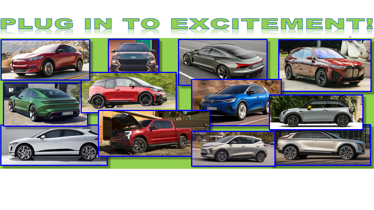 National Drive Electric Week, Huntington Beach, by Plug In To Excitement, Saturday October 9, 2021, 10 AM to 4 PM