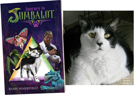 """Stray Cat Finds Forever Home – and Becomes an Action Hero Within Award-Winning Author's Fantasy Novel, Titled, """"Journey to Jumbalot"""""""