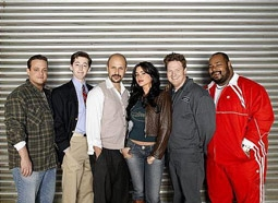 "Cast of ""The Knights of Prosperity"": Lenny Venito, Josh Grisetti, Maz Jobrani, Sofía Vergara, Donal Logue, Kevin Michael Richardson"