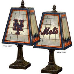 """14"""" Major League Baseball Logo Art-Glass Table Lamp"""