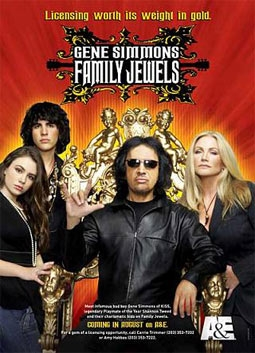 Gene Simmons with Shannon Tweed & Children Nick & Sophie, of A&E's Gene Simmons: Family Jewels