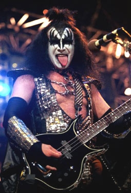 Gene Simmons, Decked Out in Full Kiss Makeup