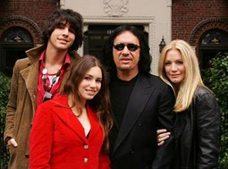 Gene Simmons & Shannon Tweed with Children Nick & Sophie