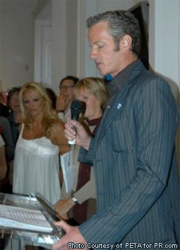 Dan Mathews & Pamela Anderson at a Stella McCartney Event