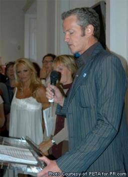 Dan Mathews & Pamela Anderson at a Stella McCartney Event