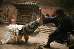 Jet Li & Jackie Chan in a Fight Scene in The Forbidden Kingdom