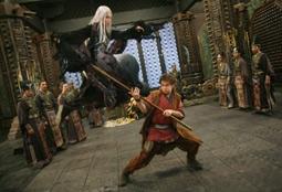 Bingbing Li & Michael Angarano in The Forbidden Kingdom