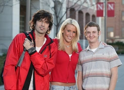 "Cast of ""Tommy Lee Goes To College"": Tommy Lee, Natalie Riedmann, & Matt Ellis"
