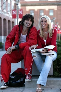"Tommy Lee & Natalie Riedmann, of ""Tommy Lee Goes To College"""