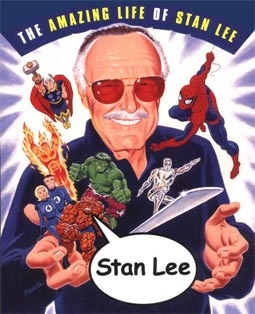 Stan Lee with Some of his Famous Characters