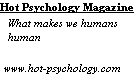 Hot Psychology Magazine