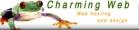 Charming Web Hosting and Design Logo