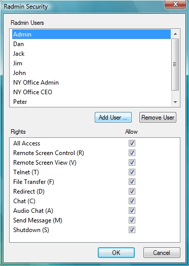 Radmin Server 3 - Radmin Security Image