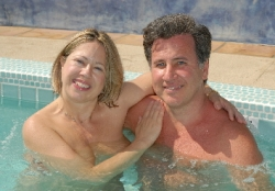 Have a Fun, Unique, Romantic Christmas Vacation - Stay at The Terra Cotta Inn Clothing Optional Resort and Spa in Palm Springs, CA