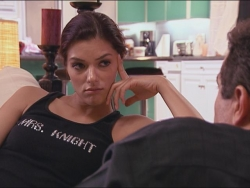 """Super Sexy Couture Custom Embellished T-shirt Predicted the Future for """"My Fair Brady"""" Reality TV Star Adrianne Curry"""