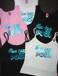 Super sexy custom couture t shirts at pool trade show in for Pool trade show vegas