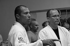 Royce Gracie, Brazilian Jiu Jitsu Master and MMA Super Star Appearing at Log Cabin-Delaney House Wedding and Banquet with CT Gracie Jiu Jitsu Black Belt Jim Hughes
