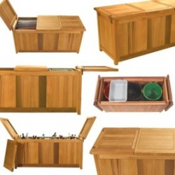 Brookbend Outdoor Furniture Offers Patio Storage Units That Convert to Food Service Bars