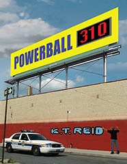 """Powerball 310 is the Smashing Debut Novel from Husband/Wife Team """"K.T. Reid"""";  High-tech Thievery with a Math Twist, this is Crime Fiction at its Entertaining Best"""