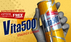 Vita500, a Caffeine and Preservative Free Energy Drink is Now Available in the U.S.