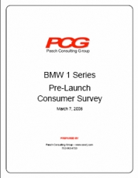 BMW 1 Series Consumer Survey Questions 128i 135i Pricing Strategy