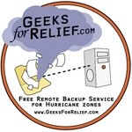 Remote Data Backup will be a Key to Surviving Ernesto and other Hurricanes - GeeksForRelief.com will Provide it at No Cost