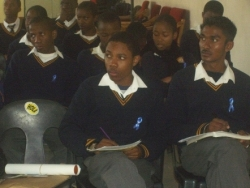 Botswana Teacher Joins SLAM Network and End Malaria - Blue Ribbon Campaign