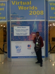 COO of Monogram Virtua Entertainment Attends the Virtual Worlds 2008 Conference in New York City