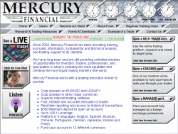 Mercury Financial Launches New Website at www.mercury-financial.com