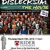 Dislecksia: the Movie! Free Screening at Rider University Thursday, March 15th from 7p-9p