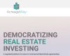 AcreageWay – Ontario Based Emerging Fintech Company Makes Its Portal Live for Commercial Real Estate Investing
