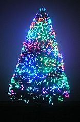 Artificial Christmas Tree: Fiber Optic 7 ft