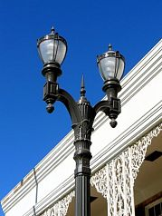 Decorative pedestrian scale light poles