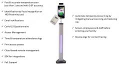 BIOS01 Temperature Screening Kiosk with HID Prox Card Reader