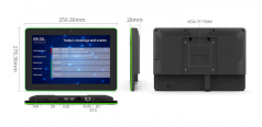 """10.1"""" Wall Mount Android PoE Tablet with full surround LED bar"""