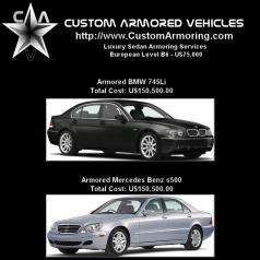 Luxury Sedan Armoring and Bullet-proofing