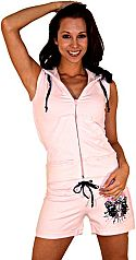 Girl's Pink Sleeveless Hoodie Outfit
