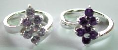 South-east Asia fashion importer jewelry catalog wholesale cz amethyst stone rings, pendants, earrin