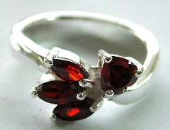 Latest fashion jewelry wholesale - red CZ synthetic stone Thailand sterling silver ring