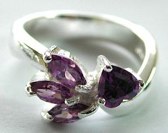 Importers fashion jewellery wholesale supply cubic zirconia jewelry - purple cz sterling silver ring