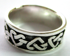 Heart lover jewelry distributor wholesale Irish Celtic ring with heart knot loop work