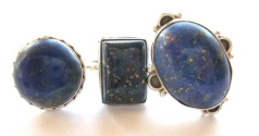 jewelry object sterling silver ring inlaid with hand crafted Lapis lazuli