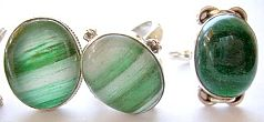 Import jewelry wholesale catalog supply genuine green agate stone sterling silver rings for unisex