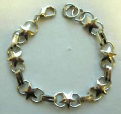 Fashion bracelet in multi circle star pattern design
