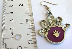 Jewelry importer wholesale Hand pattern fish hook fashion earring with imitation of mini cz decor