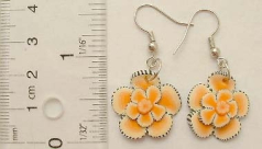 New age teen's fashion jewelry wholesale Fashion fish hook earring with flower pattern design in dif