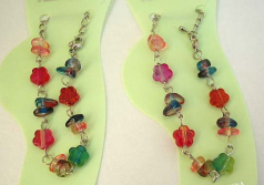 Discount accessories fashion jewlery supplier Multi color flower and chips beads design in fashion a