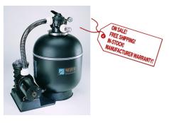 "18"" Sta-Rite Sand Pool Filter w/ 1-hp Pump"