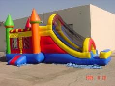 JUMPING CASTLE SLIDE COMBO. NAME -Rainbow Castle Combo. SIZE 31Lx13Wx15H